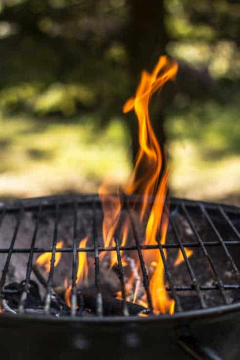Barbecue workshops fire and smoke
